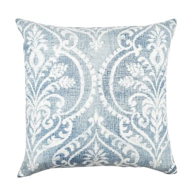 Damask Throw Pillow Size: 18 H x 18 W x 6 D, Color: Blue