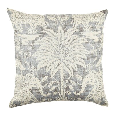 Elephant Linen Throw Pillow Size: 18
