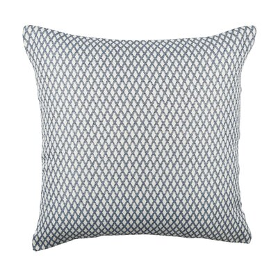 In My Own Style� Lattice Pattern Jacquard Throw Pillow Size: 20 H x 20 W x 6 D, Color: Blue