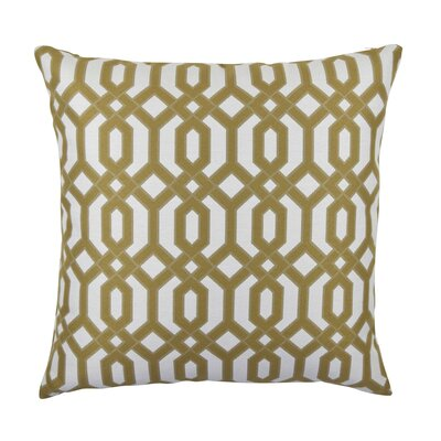 Circle Link Inspired Throw Pillow Size: 18 H x 18 W x 6 D, Color: Tan