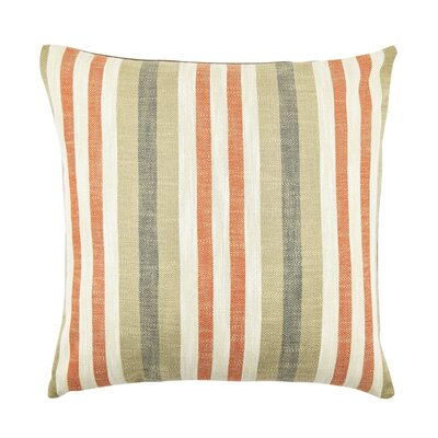 Stripe Throw Pillow Size: 20 H x 20 W x 6 D, Color: Orange