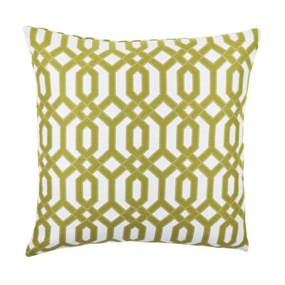 Circle Link Inspired Throw Pillow Size: 20 H x 20 W x 6 D, Color: Green
