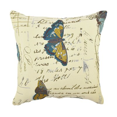 Butterfly Poem Throw Pillow Size: 18 H x 18 W x 6 D