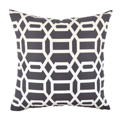 Circle Link Fabric Throw Pillow Size: 18 H x 18 W x 6 D