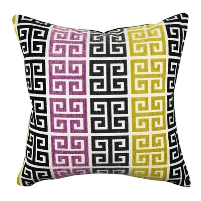 Greek Key Throw Pillow Size: 18 H x 18 W x 6 D, Color: Purple