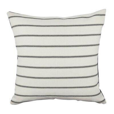 Ticking Stripe Fabric Throw Pillow Size: 18 H x 18 W x 6 D
