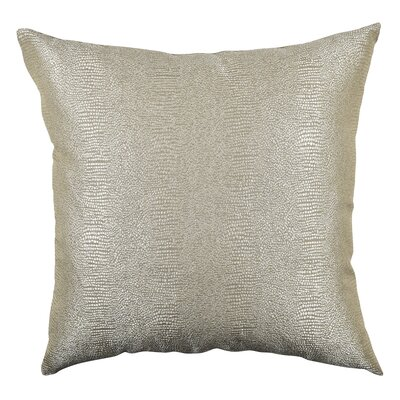Paradise Designer Fabric Throw Pillow Size: 20 H x 20 W x 6 D, Color: Gold