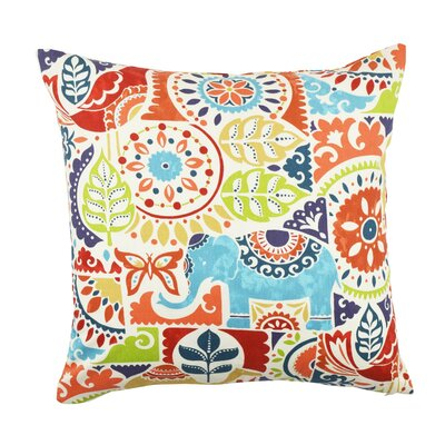 Eclectic Motif Throw Pillow Size: 18 H x 18 W x 6 D