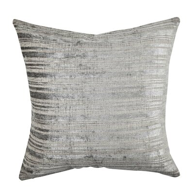 Stripe Designer Fabric Throw Pillow Size: 18 H x 18 W x 6 D