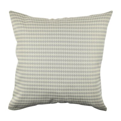 Geometric Stripe Fabric Throw Pillow Size: 18 H x 18 W x 6 D, Color: Gray
