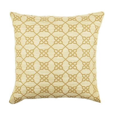 Ogee Pattern Cotton Throw Pillow Size: 20 H x 20 W x 6 D