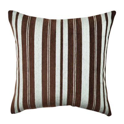 Stripe Soft Flocked Throw Pillow Size: 18 H x 18 W x 6 D