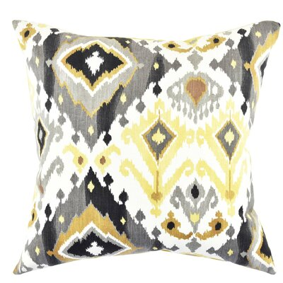 Ikat Cotton Throw Pillow Size: 20 H x 20 W x 6 D