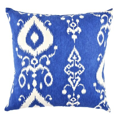 Ikat Cotton Throw Pillow Size: 18 H x 18 W x 6 D
