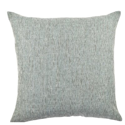 Chenille Throw Pillow Size: 18 H x 18 W x 6 D, Color: Gray