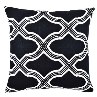 Quatrefoil Jacquard Woven Throw Pillow Size: 18 H x 18 W x 6 D