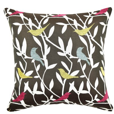 Playful Birds Throw Pillow Size: 18 H x 18 W x 6 D