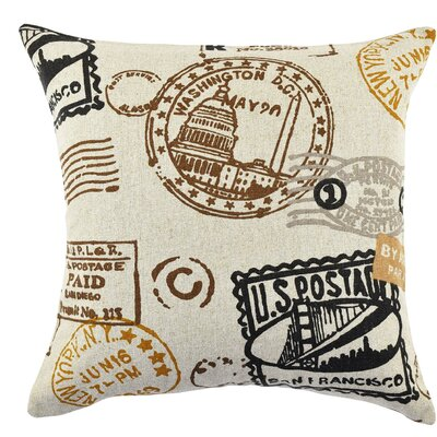 Travel Typography Linen Throw Pillow Size: 20 H x 20 W x 6 D