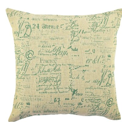 Elegant Typography Throw Pillow Size: 18 H x 18 W x 6 D