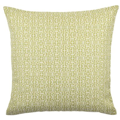 Jacquard Throw Pillow Size: 18 H x 18 W x 6 D, Color: Yellow / White