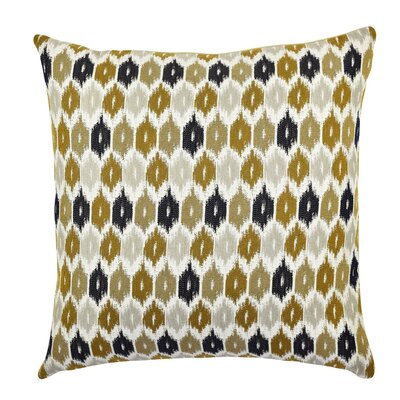 Ogee Designer Throw Pillow Size: 18 H x 18 W x 6 D, Color: Blue / Brown