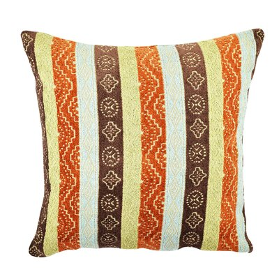 Bright Eclectic Stripe Designer Throw Pillow Size: 20 H x 20 W x 6 D