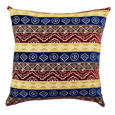Bold Eclectic Stripe Designer Throw Pillow Size: 18 H x 18 W x 6 D
