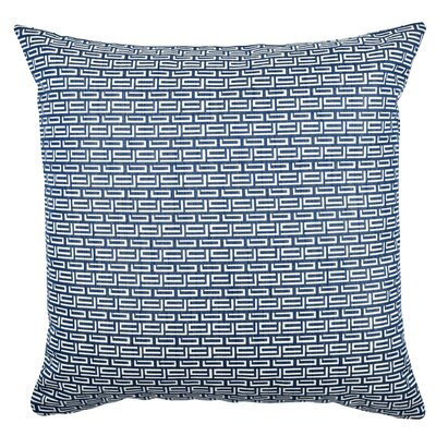 Fret Pattern Jacquard Throw Pillow Size: 18 H x 18 W x 6 D