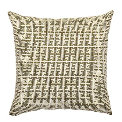 Jacquard Throw Pillow Size: 20 H x 20 W x 6 D, Color: Neutral Tones