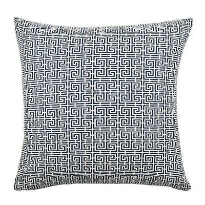 Jacquard Throw Pillow Size: 18 H x 18 W x 6 D, Color: Blue / White