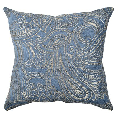 Damask Flocked Throw Pillow Size: 20 H x 20 W x 6 D