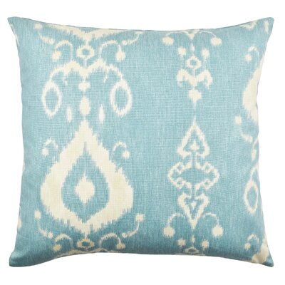 Ikat Inspired Throw Pillow Size: 20 H x 20 W x 6 D, Color: Blue