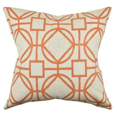 Circle Link Throw Pillow Size: 18 H x 18 W x 6 D, Color: Orange