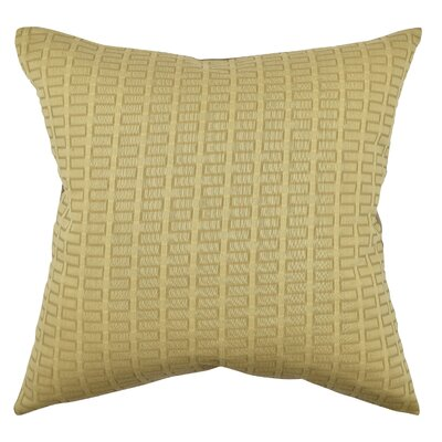 Geometric Throw Pillow Size: 18 H x 18 W x 6 D, Color: Tan