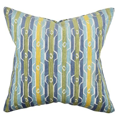 Stripe Throw Pillow Size: 20 H x 20 W x 6 D, Color: Blue/Green
