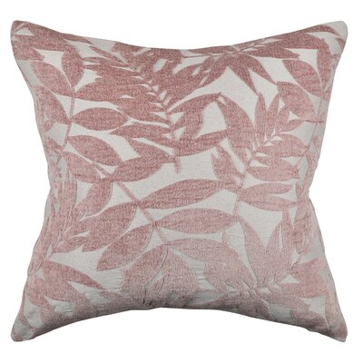 Tropical Leaf Throw Pillow Size: 18 H x 18 W x 6 D, Color: Pink