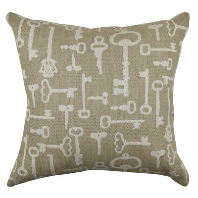Vintage Key Throw Pillow Size: 20 H x 20 W x 6 D