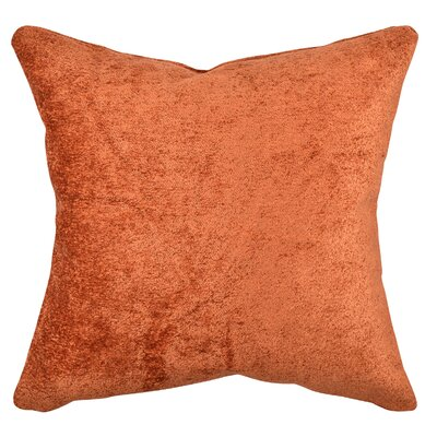 Terry Cloth Throw Pillow Size: 20 H x 20 W x 6 D, Color: Orange