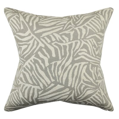 Zebra Throw Pillow Size: 20 H x 20 W x 6 D, Color: Cream