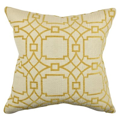 Circle Link Throw Pillow Size: 18 H x 18 W x 6 D, Color: Yellow