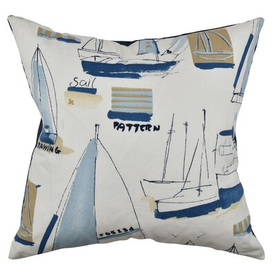 Nautical Throw Pillow Size: 18 H x 18 W x 6 D, Color: Neutral