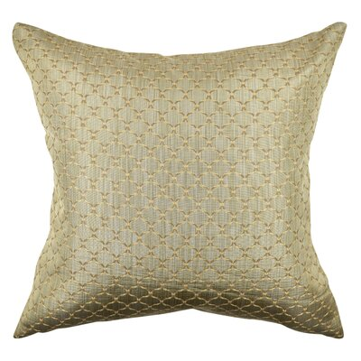 Lattice Woven Jacquard Throw Pillow Size: 18 H x 18 W x 6 D, Color: Tan