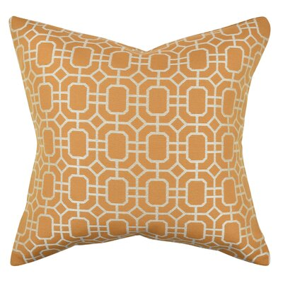 Geometric Honeycomb Throw Pillow Size: 20 H x 20 W x 6 D, Color: Orange