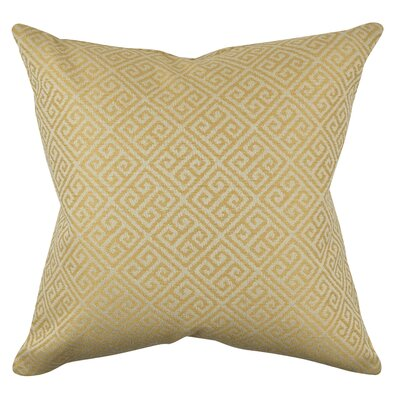 Greek Fret Throw Pillow Size: 18 H x 18 W x 6 D, Color: Yellow