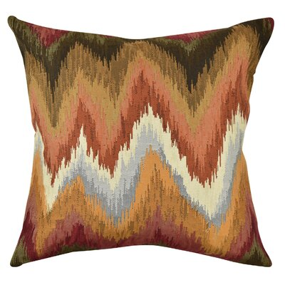 Bohemian Chevron Throw Pillow Size: 18 H x 18 W x 6 D
