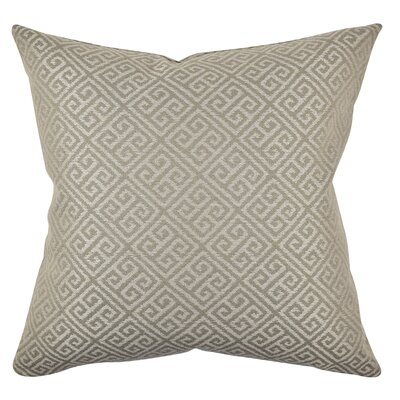 Greek Fret Throw Pillow Size: 18 H x 18 W x 6 D, Color: Gray