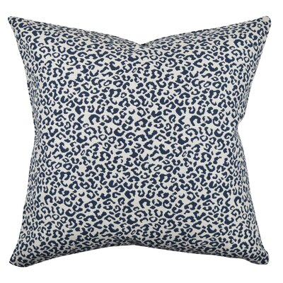 Animal Print Throw Pillow Size: 18 H x 18 W x 6 D, Color: Blue/White