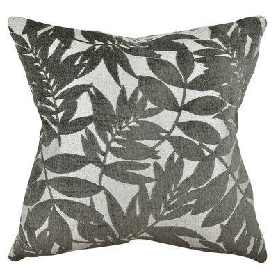 Tropical Leaf Throw Pillow Size: 18 H x 18 W x 6 D, Color: Gray