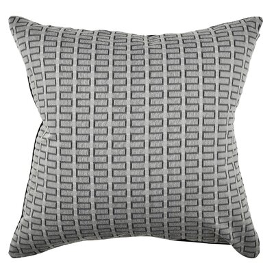 Geometric Throw Pillow Size: 18 H x 18 W x 6 D, Color: Gray