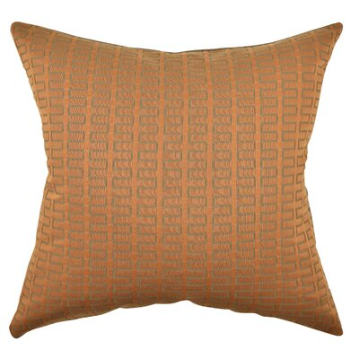 Geometric Throw Pillow Size: 18 H x 18 W x 6 D, Color: Orange